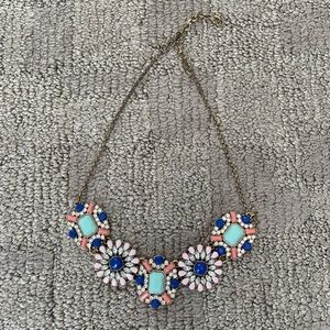 Pink and Blue J Crew statement necklace